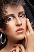 Woman With Gothic Style Make Up