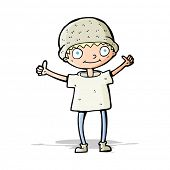 picture of attitude boy  - cartoon boy with positive attitude - JPG