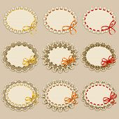 Set of elegant templates frame design