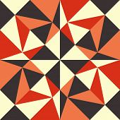 Seamless geometric background. Abstract vector Illustration. Pattern with triangle mosaic. Can be us
