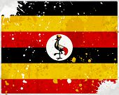 Grunge Uganda Flag With Stains