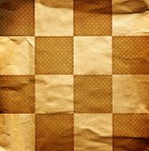 Grungy Dotted Chessboard Background With Dots