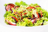 Colourfull Salad On White Plate