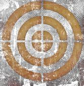 Target On Grunge Background