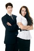 The businessman in a business suit and businesswoman