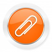 paperclip orange computer icon