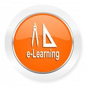 larning orange computer icon