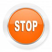 stop orange computer icon