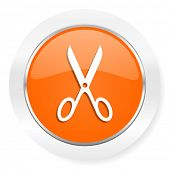 scissors orange computer icon