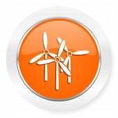 windmill orange computer icon