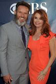 LOS ANGELES - JUL 17:  Mark Burnett, Roma Downey at the CBS TCA July 2014 Party at the Pacific Desig
