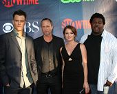 LOS ANGELES - JUL 17:  Josh Duhamel, Dean Winters, Aubrey Dollar, Edward Fordham Jr at the CBS TCA J
