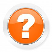 question mark orange computer icon