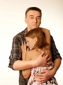 The Twelve Years Daughter Hugging Father