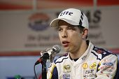Ft. Worth, TX - Nov 02, 2014:  Brad Keselowski (2) speaks to the media after the AAA TEXAS 500 at Texas Motor Speedway in Ft. Worth, TX.