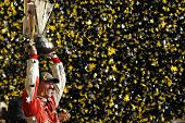Homestead, FL - Nov 16, 2014:  Kevin Harvick (4) celebrates after becoming the 2014 NASCAR Sprint Cup Series Champion at Homestead-Miami Speedway in Homestead, FL.