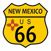 Route 66 New Mexico Flag