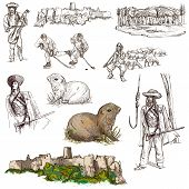 Travel: Slovakia. Pack Of Full Sized Hand Drawn Illustrations.