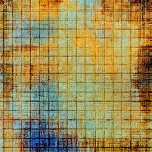 Grunge aging texture, art background. With different color patterns: yellow; brown; orange; blue