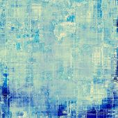 Retro background with old grunge texture. With different color patterns: blue; cyan; white