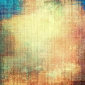 Abstract textured background designed in grunge style. With different color patterns: blue; orange; brown; yellow