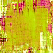 Weathered and distressed grunge background with different color patterns: yellow; purple (violet); green; pink