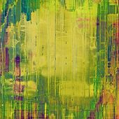 Old designed texture as abstract grunge background. With different color patterns: blue; green; purple (violet); yellow