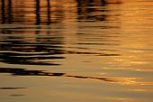 stock photo of inlet  - Sunset reflected in the still water of an inlet in Florida - JPG