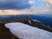 Carpathian mountains 17 under snow in spring