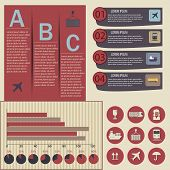 Set Of Logistic Infographic Elements