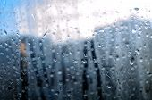 Natural Water Drops on Window