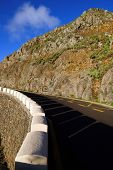 Road in Masca Canyon, Tenerife Island, Spain