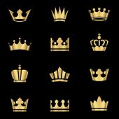 Gold Crowns Set