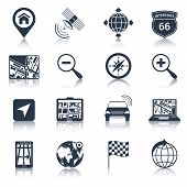 Navigation Icons Black