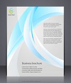 Business brochure. Layout template with abstract waves
