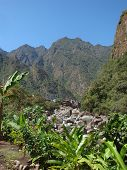 stock photo of andes  - andes scenery around Machu Picchu a ancient Inka city in the Andes located in Peru  - JPG