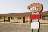 Motel and Sign