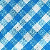 Bavarian Blue Checkered Tablecloth