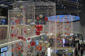 Brno,czech Republic-december 12,2014:christmas Decorations At  Shopping Centre Gallery Vankovka