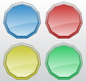 Glossy badge