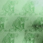 vector vintage illustration of green watercolor koala bears patt