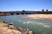 Imcoming Tide At Umgeni River, Durban South Africa