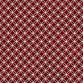 Red And White Interlocking Circles Tiles Pattern Repeat Background
