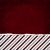 Square Red And White Candy Cane Stripe Torn Grunge Textured Background