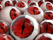 3D Red Eyeballs