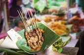 Indonesian Chicken Satay In Leaf