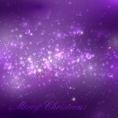Merry Christmas. shiny purple holiday background with lights, sp