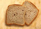 Bread Slices On Paper Background