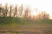 Sunset Over Embankment
