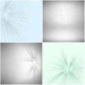 Set of Abstract 3D hexagonal backgrounds, vector template for business or science design